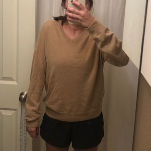 Camel oversized cashmere sweater